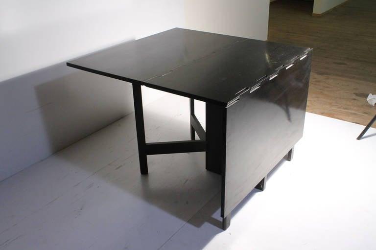 George Nelson Herman Miller Drop Leaf Gate Leg Dining Table or Desk For Sale 2