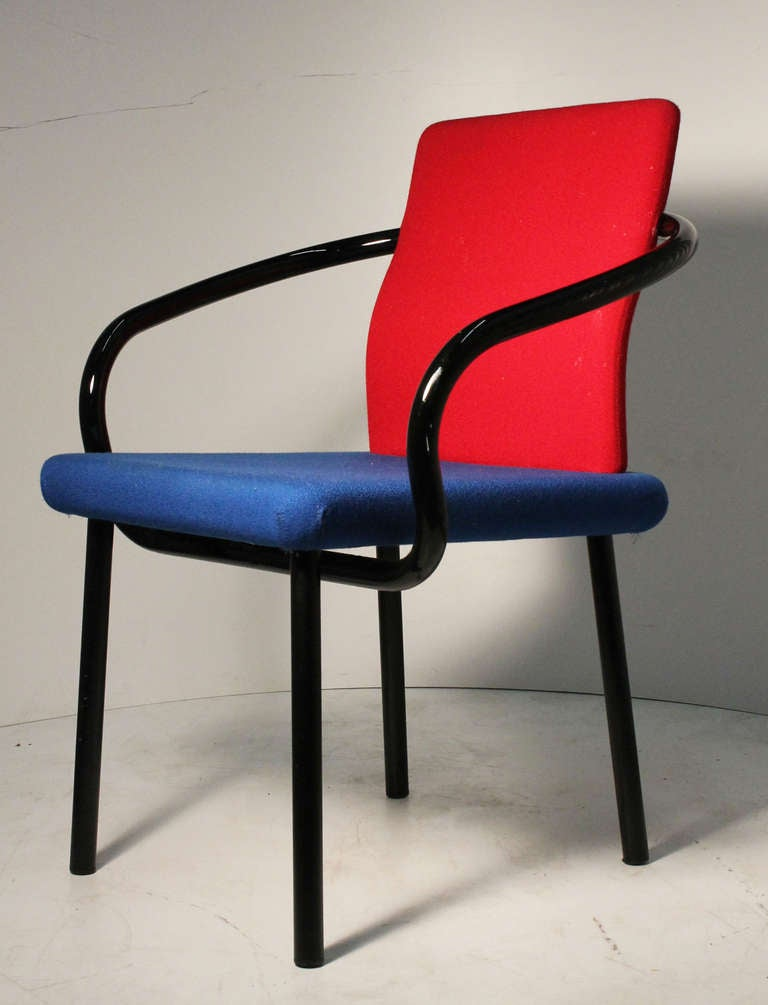 Set of ettore sottsass memphis armchairs for knoll at 1stdibs for Memphis sottsass
