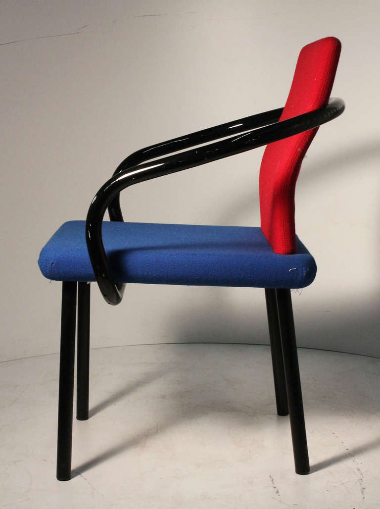 20th Century Set of Ettore Sottsass Memphis Armchairs for Knoll