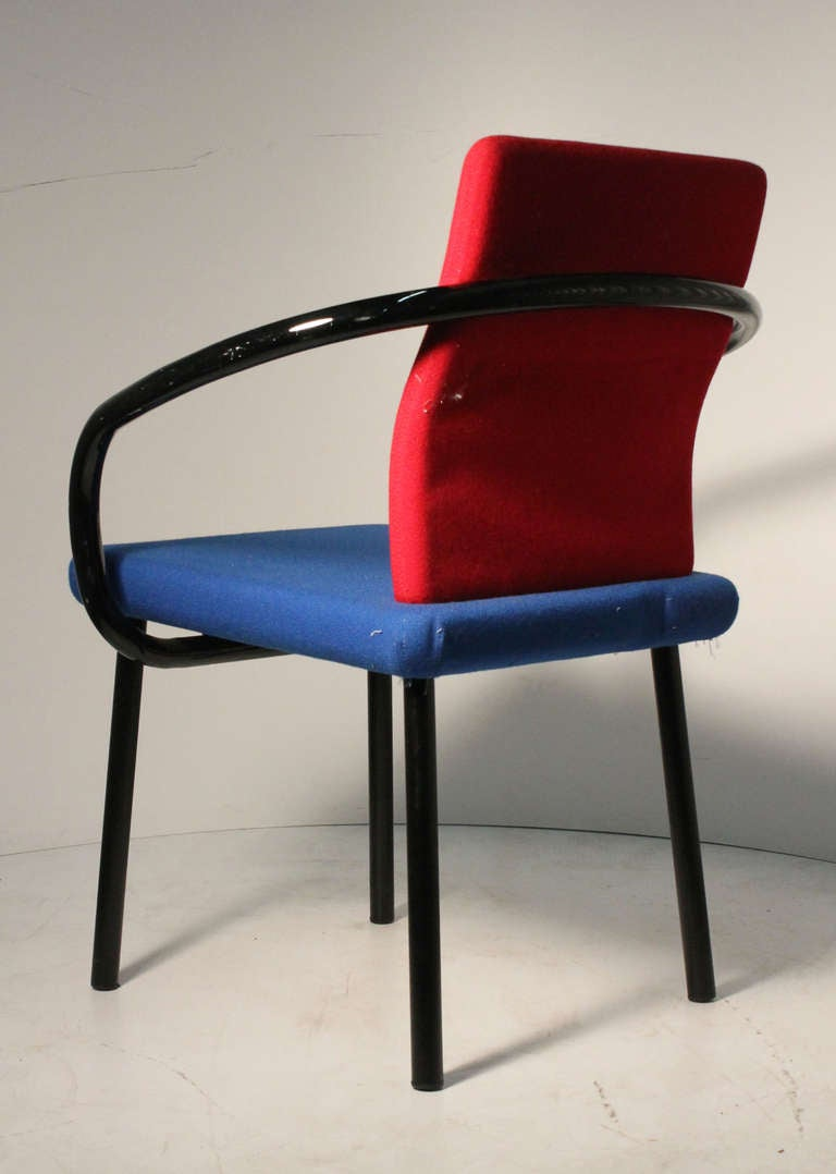 Set of Ettore Sottsass Memphis Armchairs for Knoll 1