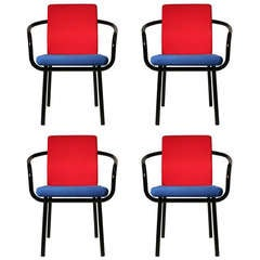 Set of Ettore Sottsass Memphis Armchairs for Knoll