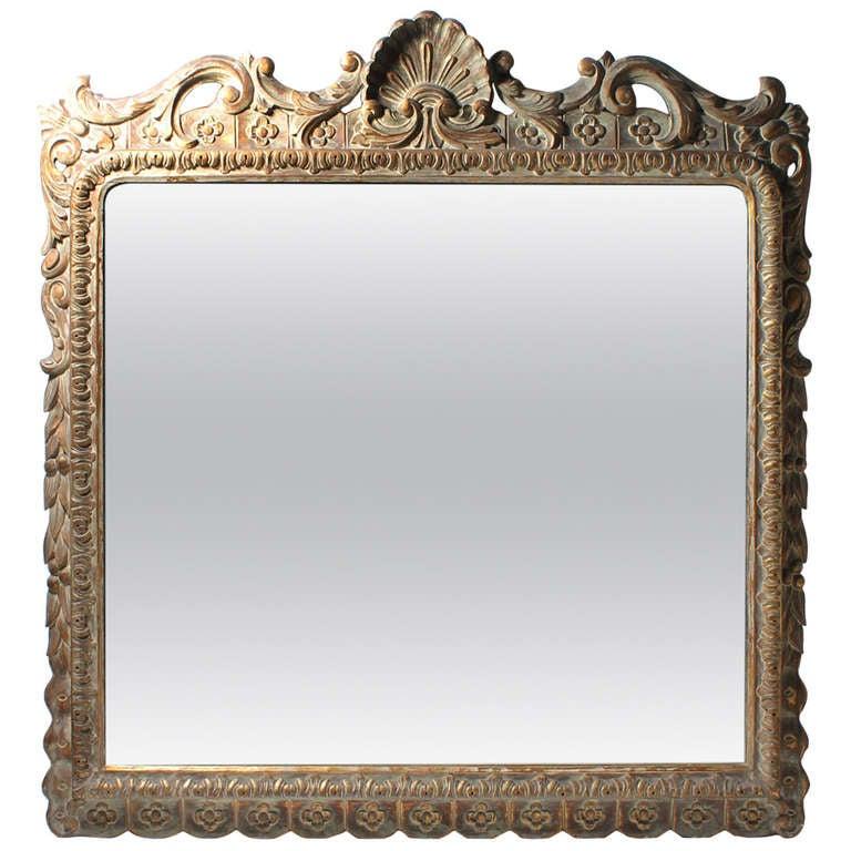 Large Beautiful Italian Hand Carved Vintage Mirror At 1stdibs