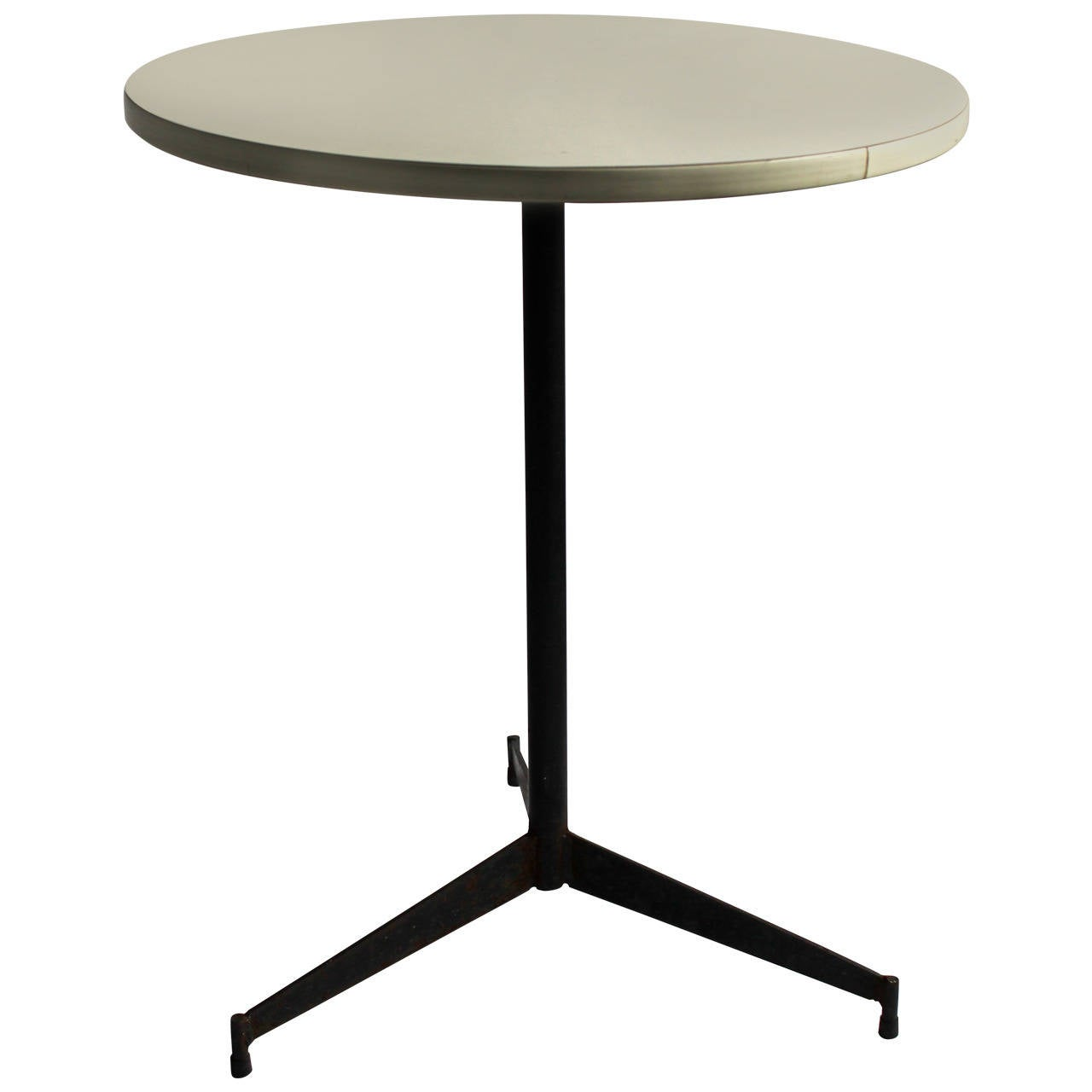 Paul mccobb drinks table wrought iron and white formica for Formica table