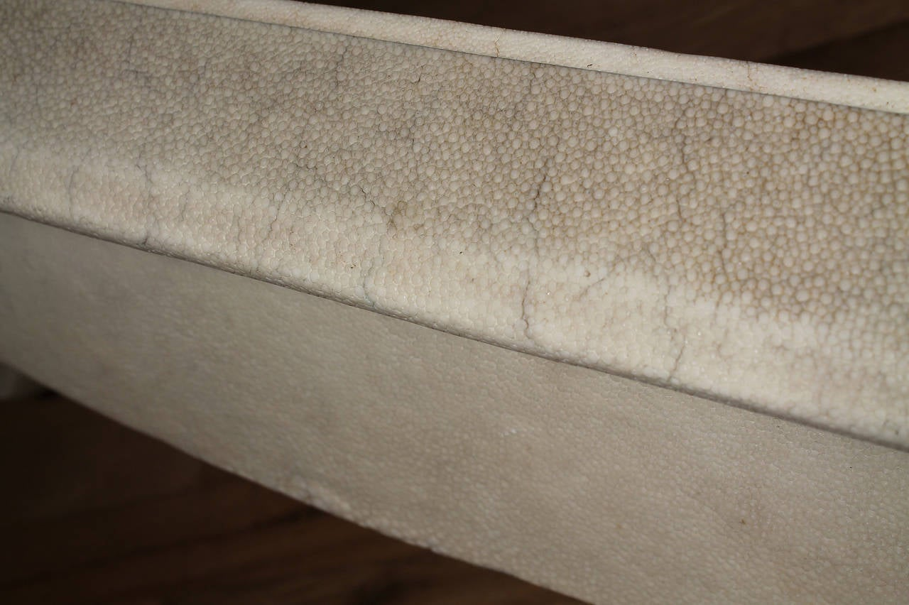Chinoiserie Oriental Maitland-Smith Coffee Table Faux Shagreen Karl Springer 5