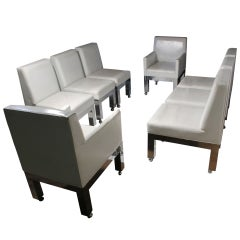 Paul Evans Cityscape Dining Suite, Eight Chairs with Table