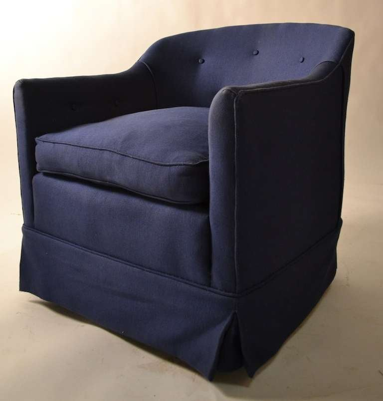 Pair Swivel Tub Chairs From Bloomingdales At 1stdibs