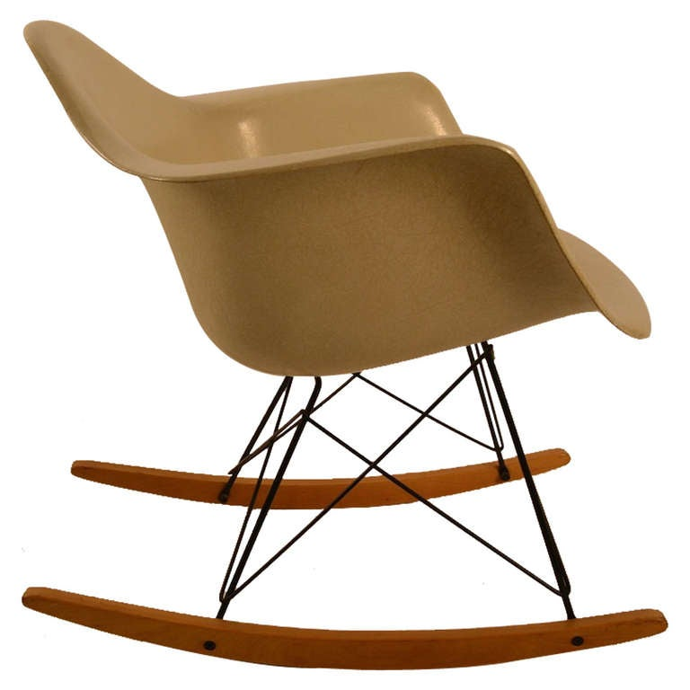 eames rar rocking chair for herman miller at 1stdibs