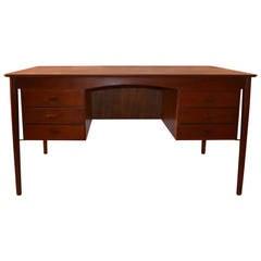 Danish Modern Teak Desk by Lovig