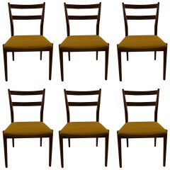 Six Rosewood Dining Chairs Arne Vodder for Sibast