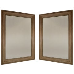 Pair Silver Gilt Mirrors by James Mont