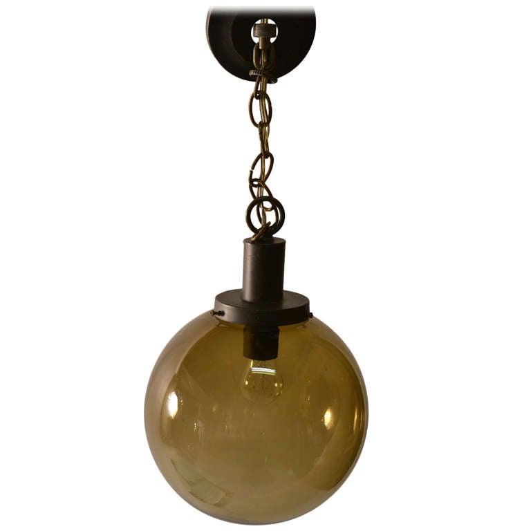 Grey Smoked Glass Hanging Ball Fixture