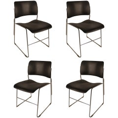 Four David Rowland General Fireproofing Stacking chairs