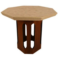 Harvey Probber Octagonal Marble Top Gothic Base Table