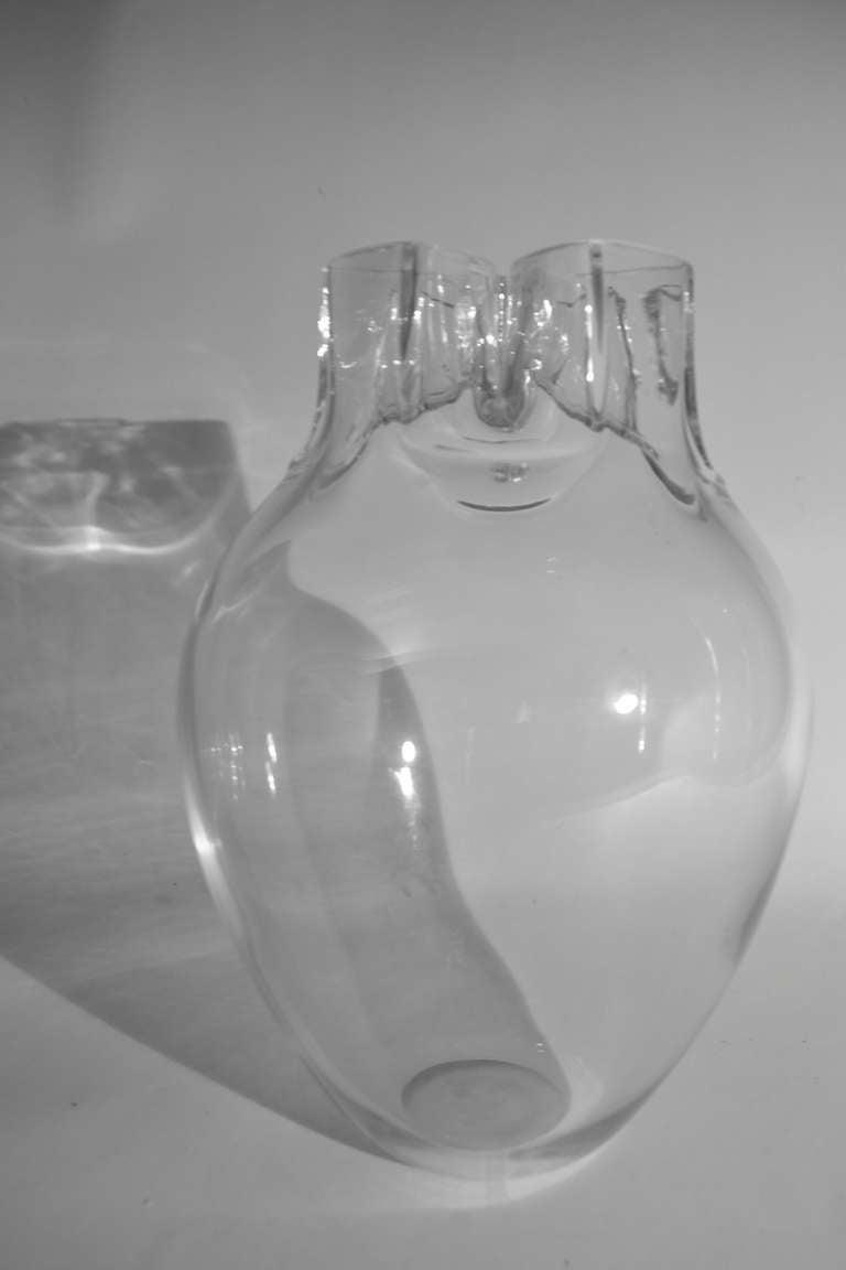 Signed Barbini Murano Glass Vase For Sale 1