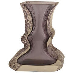 Mandruzzato Murano Art Glass Vase by Campanella