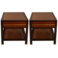 Pair Probber One Drawer End Tables