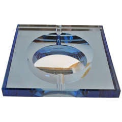 Thick Plate Glass Mirrored Ashtray