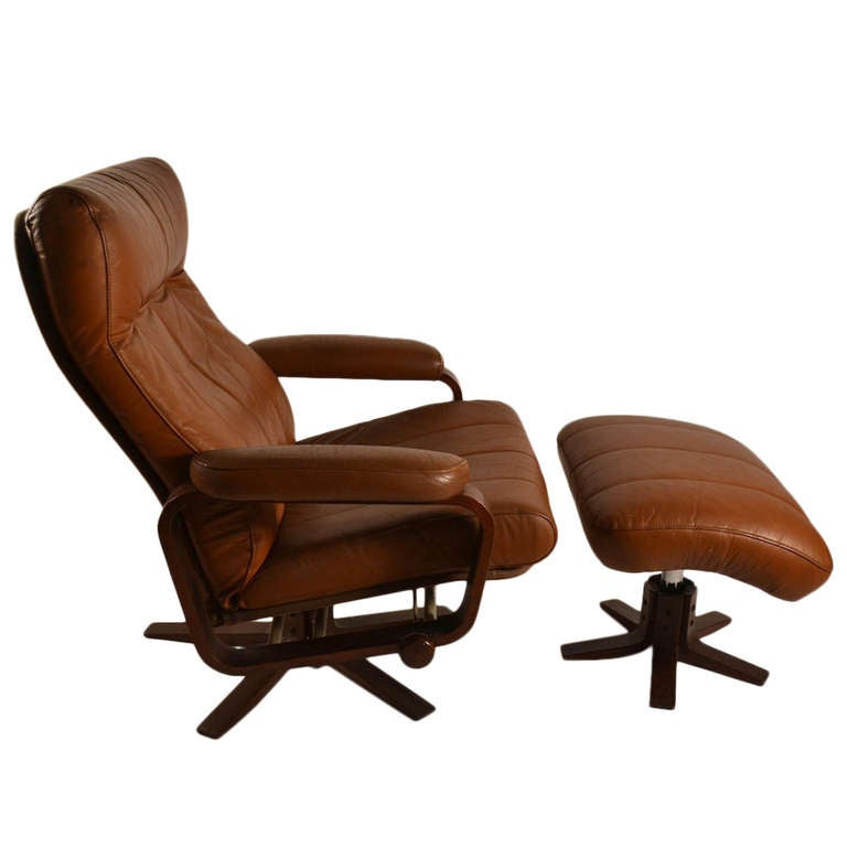 Danish Modern Reclining Lounge Chair At 1stdibs