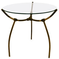 Brass and Glass Table after Parisi