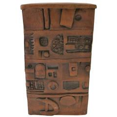 Modernist Stoneware Pottery Vase