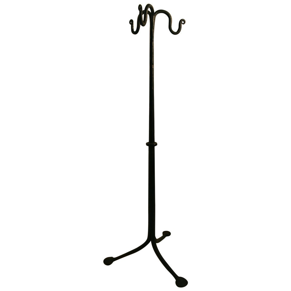 Hand Wrought Iron Fireplace Tool Stand