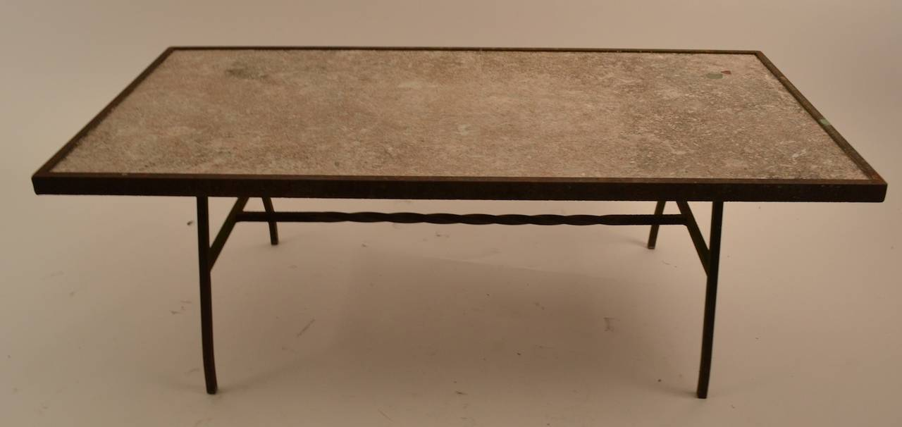 Coffee Table Bases For Granite Tops Vintage Knoll Coffee Table With Chrome Base And Granite