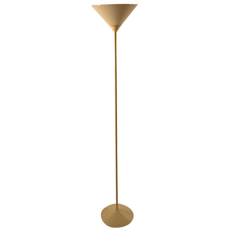 Post modern italian torchiere lamp for sale at 1stdibs for Contemporary torchiere floor lamps
