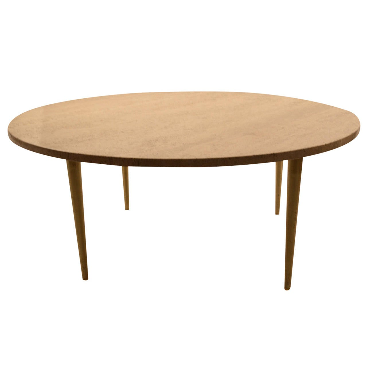 Italian Round Marble Top Coffee Cocktail Table For Sale At 1stdibs