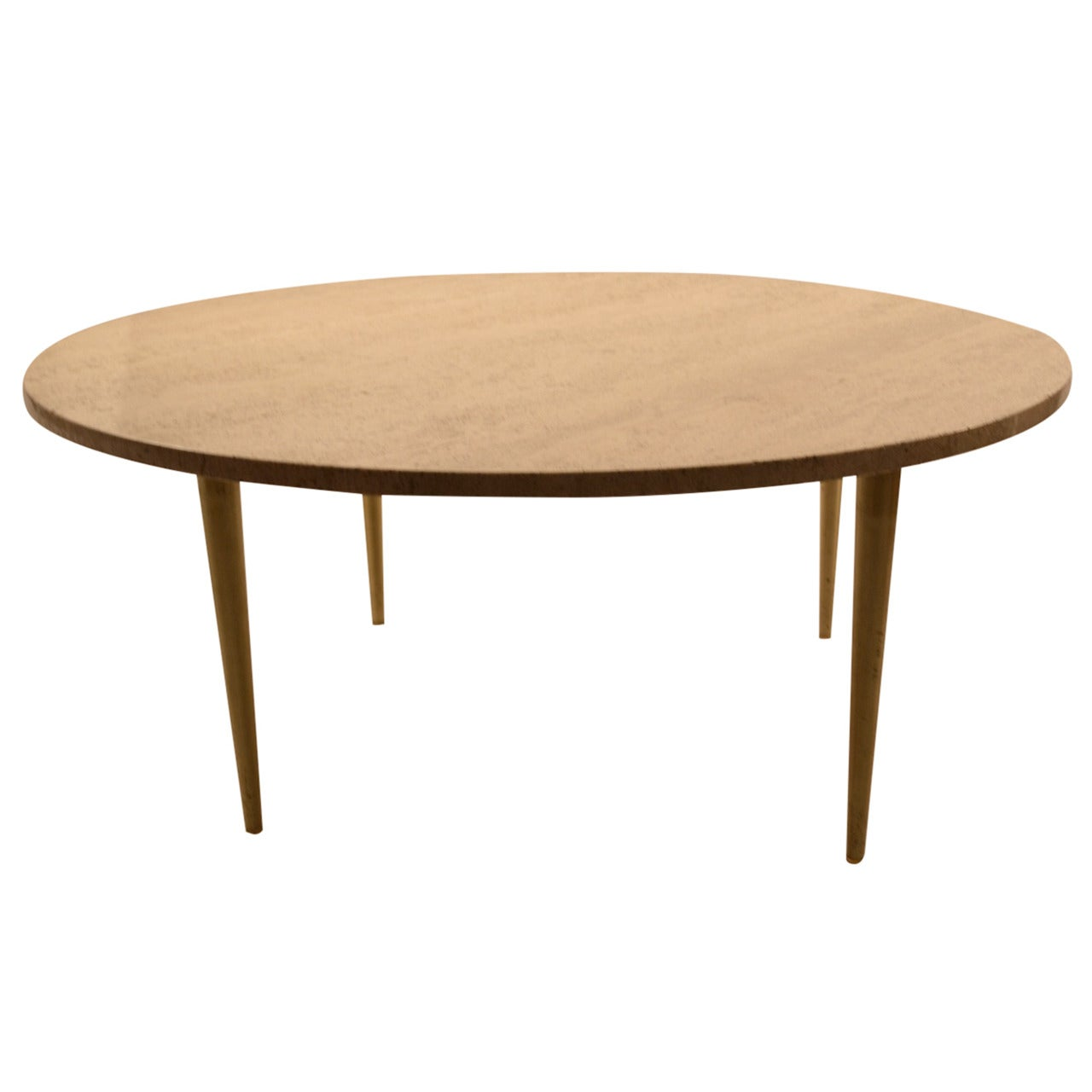 Italian Round Marble Top Coffee Cocktail Table