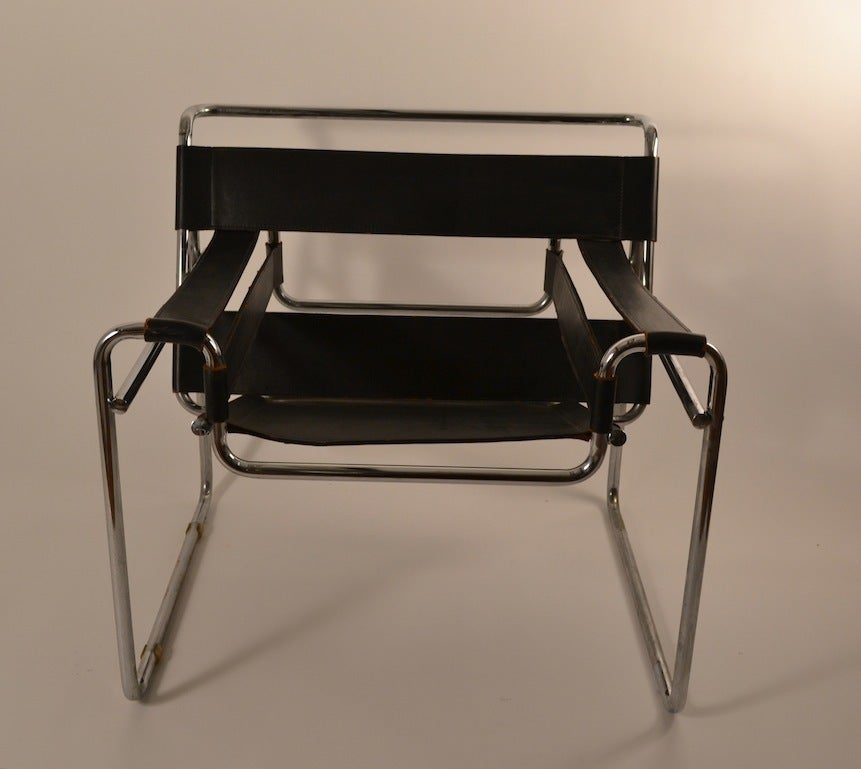 Pair Of Marcel Breuer Wassily Chairs Made In Italy At 1stdibs