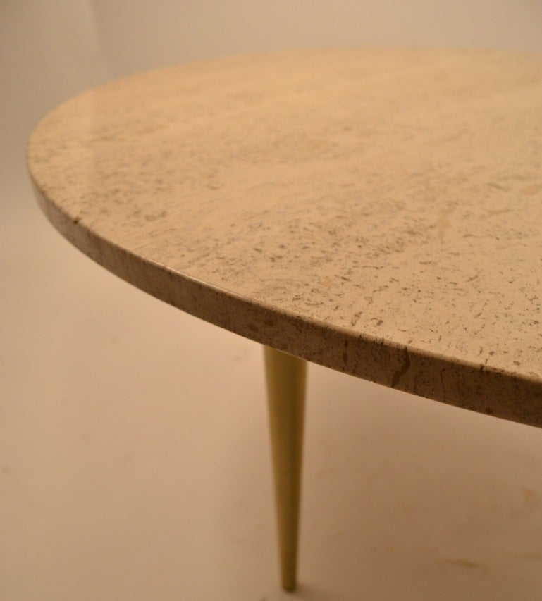 Italian Round Marble Top Coffee Cocktail Table For Sale At