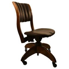 Turn of the Century Swivel Tilt Armless Desk Chair