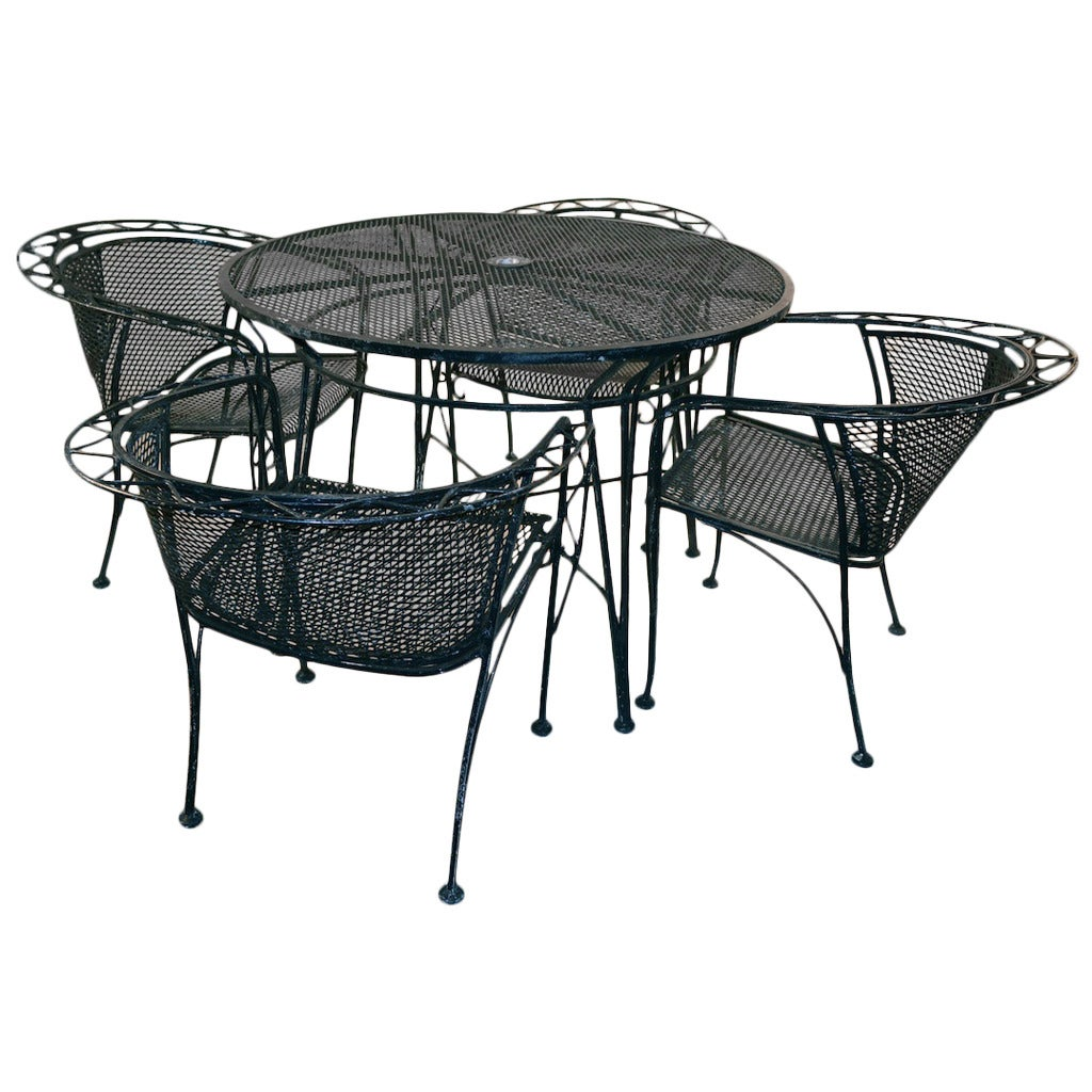 Five Piece Salterini Patio Set At 1stdibs