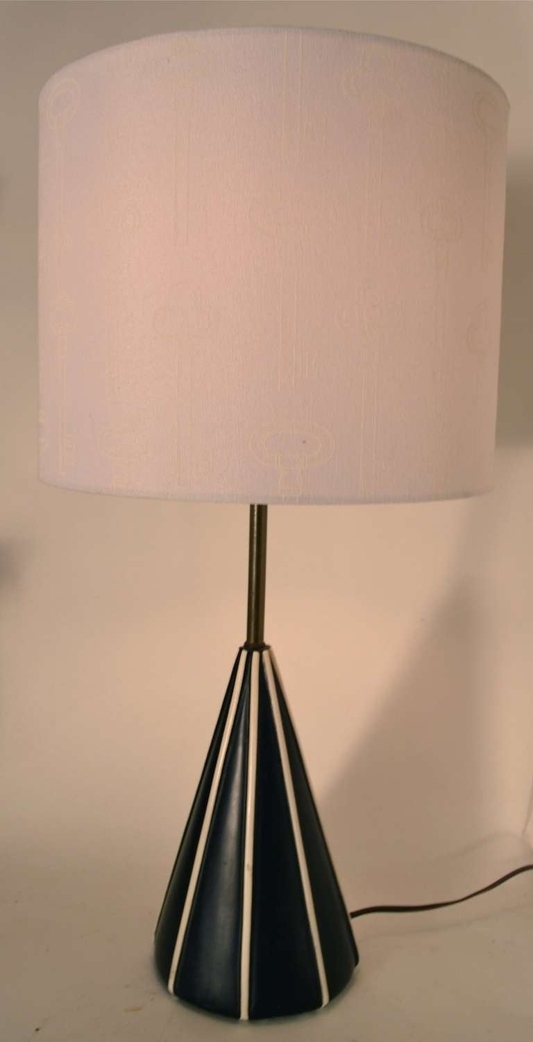 this chic black and white cone form table lamps is no longer available. Black Bedroom Furniture Sets. Home Design Ideas