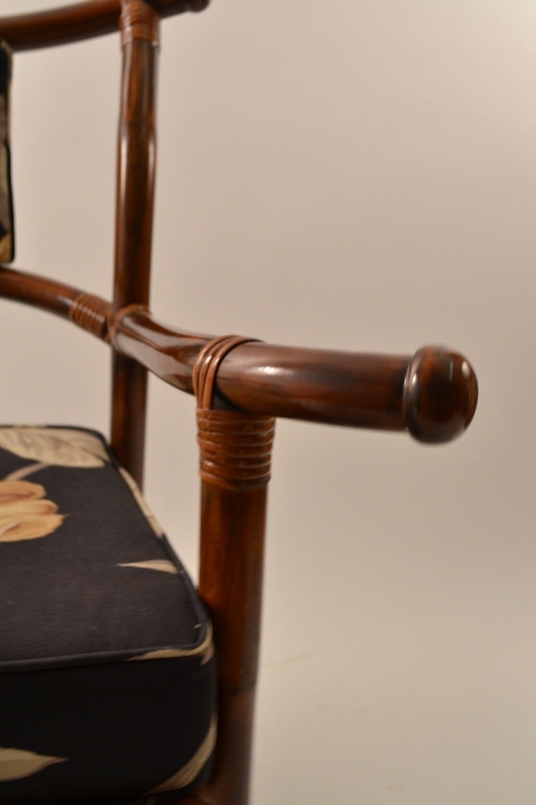 Ficks Reed Asia Modern Arm Chair at 1stdibs