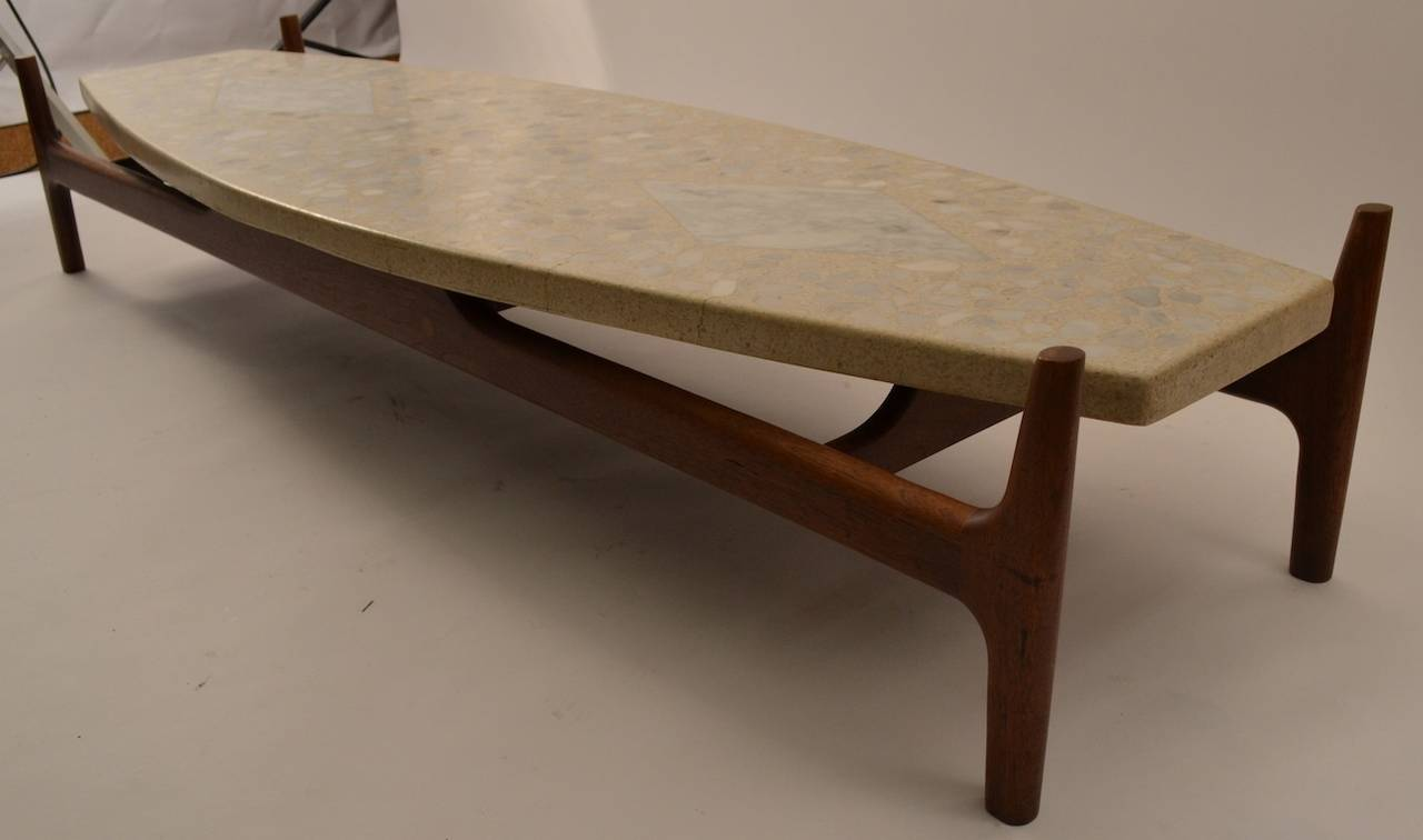 Probber Surfboard Terrazzo Top Coffee Or Cocktail Table