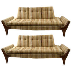 Pair of Adrian Pearsall Sofas