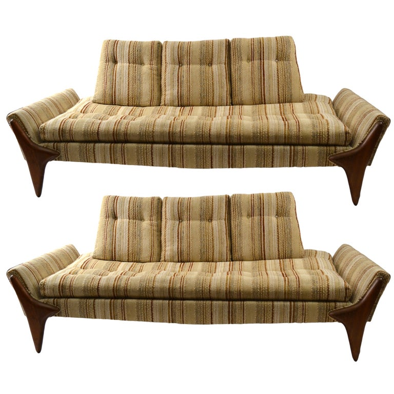 Pair of Adrian Pearsall Sofas For Sale