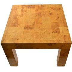 Classic Paul Evans Burl Patchwork Cityscape Parsons Table