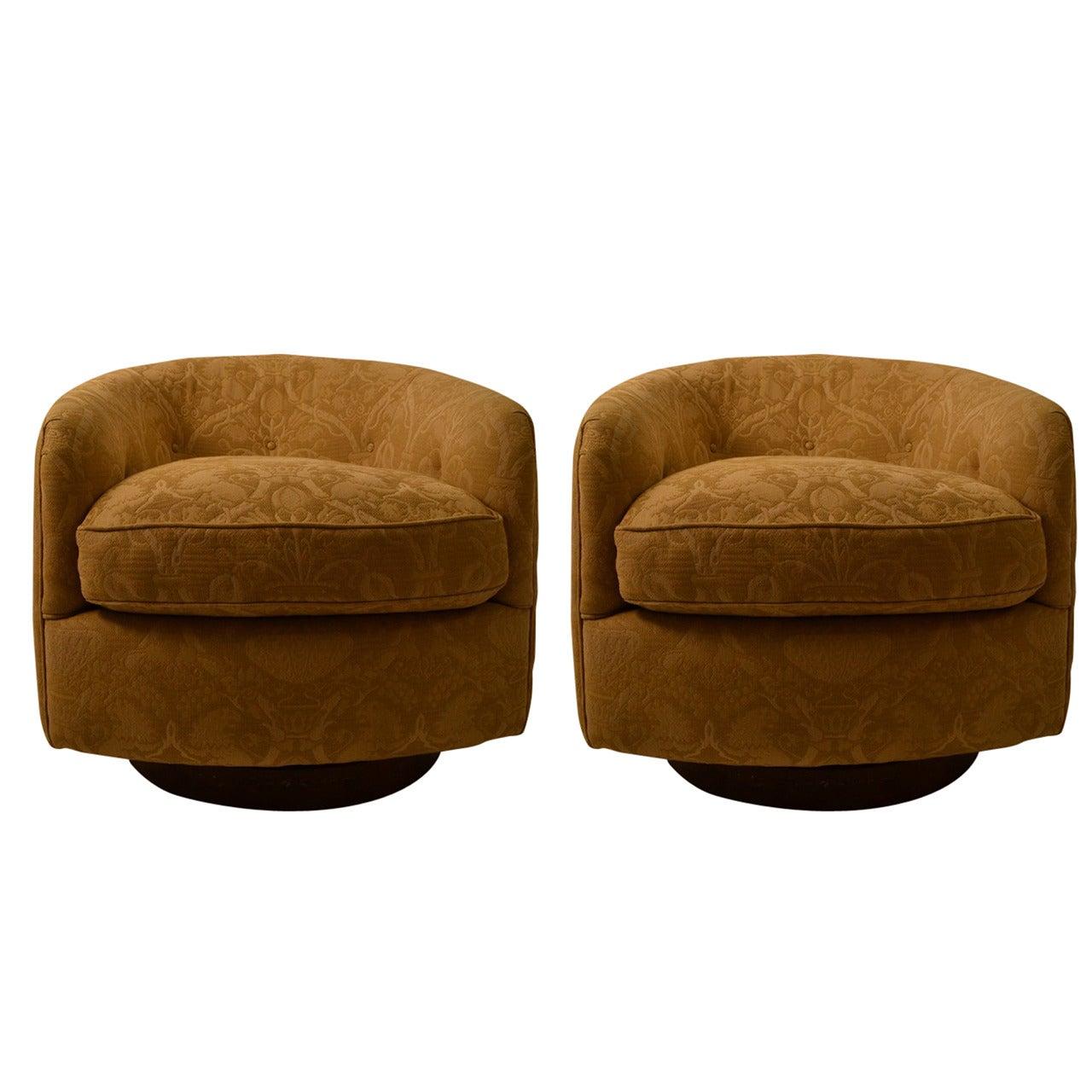 Pair of Extra Grade Swivel Tilt Tub Chairs
