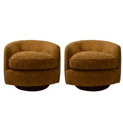 Pair of Extra Grade Swivel Tilt Tub Chairs