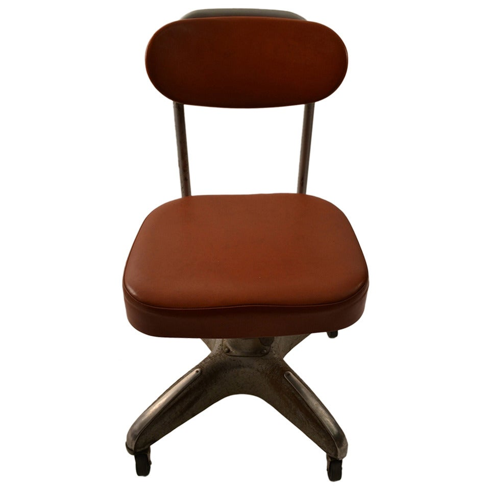 Industrial swivel desk chair at 1stdibs for Chair with swivel desk