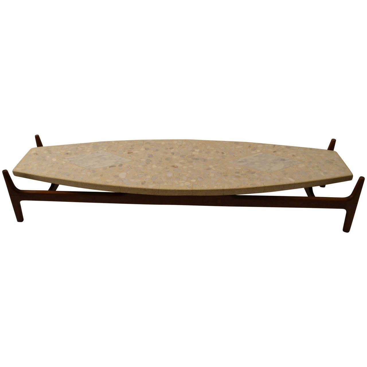 Probber Surfboard, Terrazzo-Top Coffee Or Cocktail Table