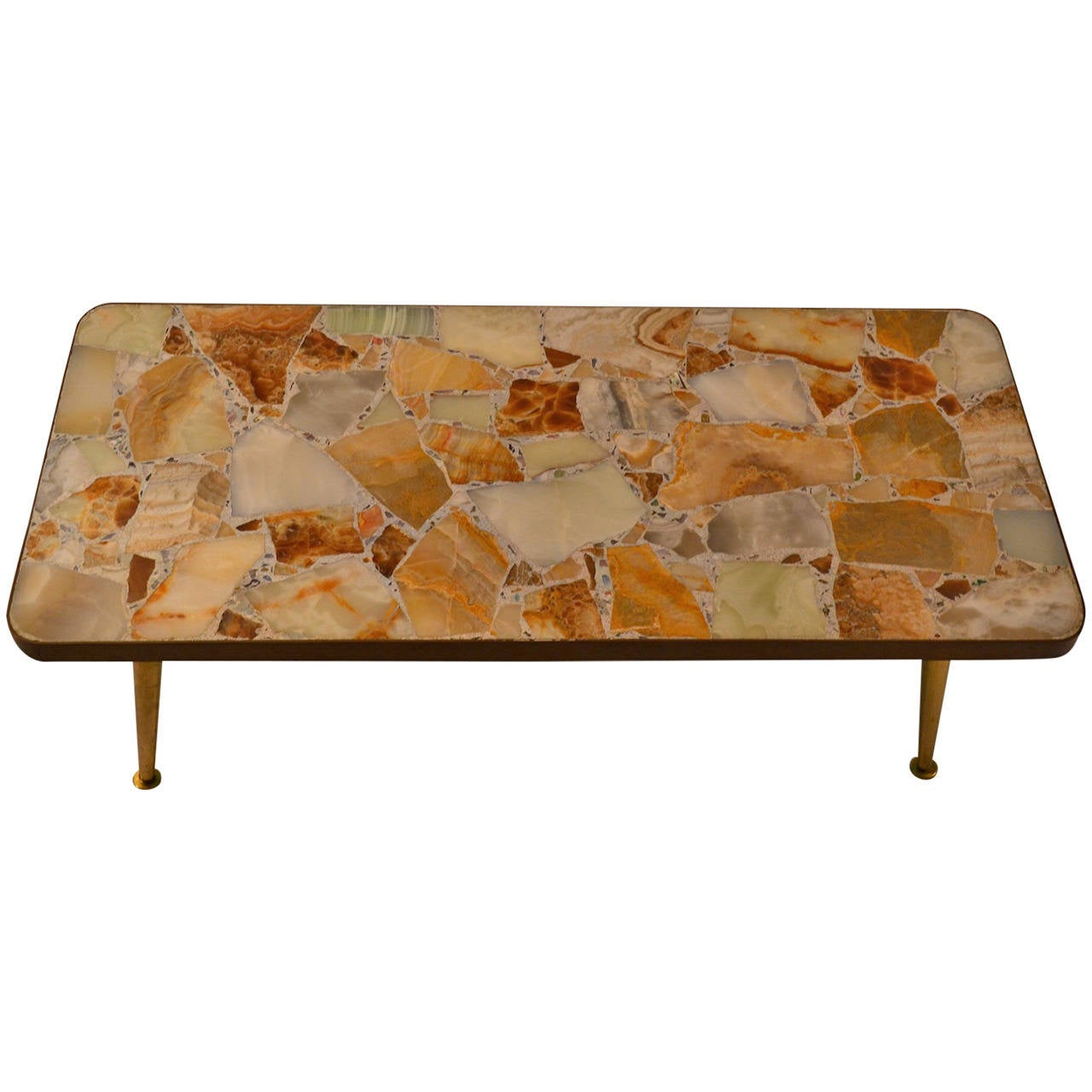 Specimen Onyx-Top Coffee or Cocktail Table