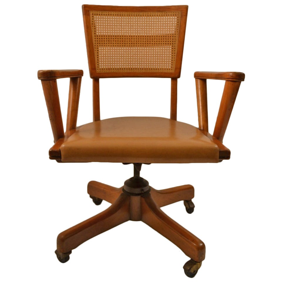 Mid Century Modernist High Back Or Desk Chair W New: Mid-Century Swivel Desk Chair At 1stdibs