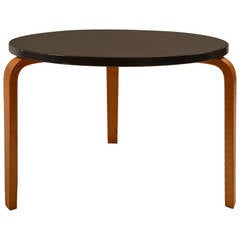 Thonet Black-Top and Blonde-Leg Table