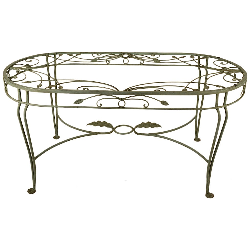 Salterini wrought iron oval dining table at 1stdibs for Iron dining table