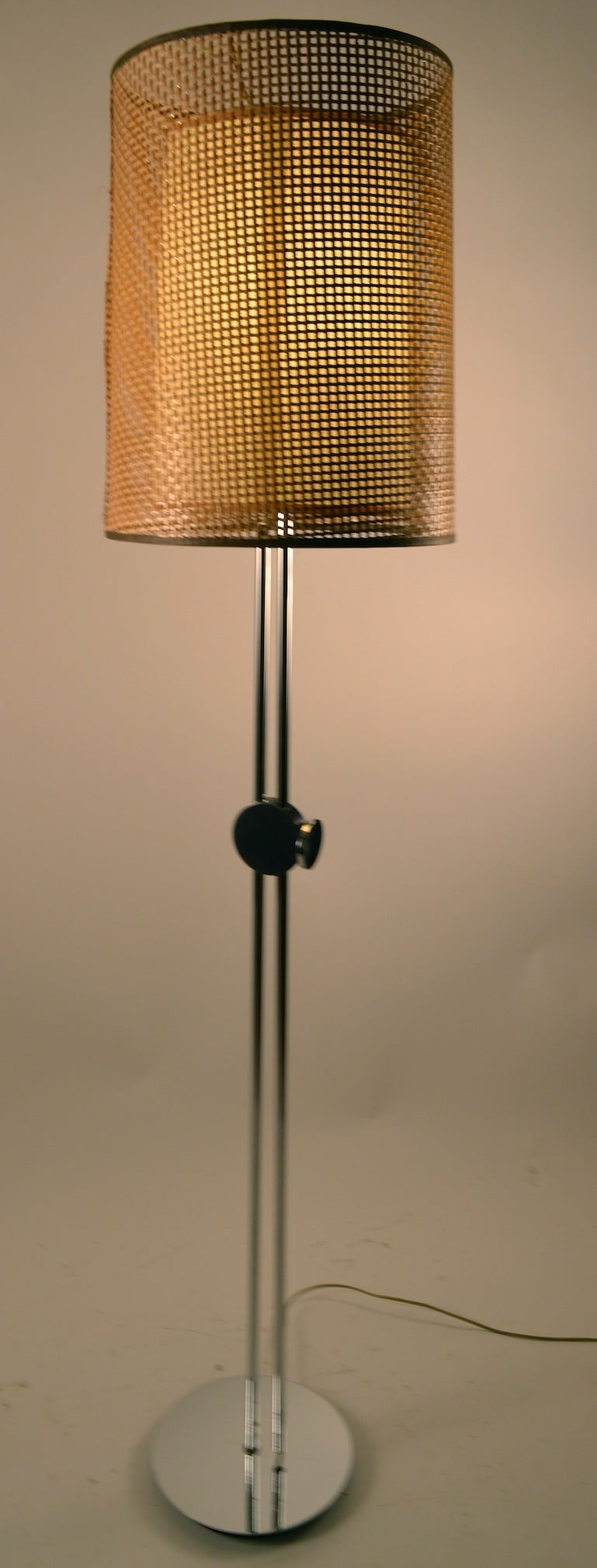 sonneman for george kovacs adjustable chrome floor lamp at 1stdibs. Black Bedroom Furniture Sets. Home Design Ideas