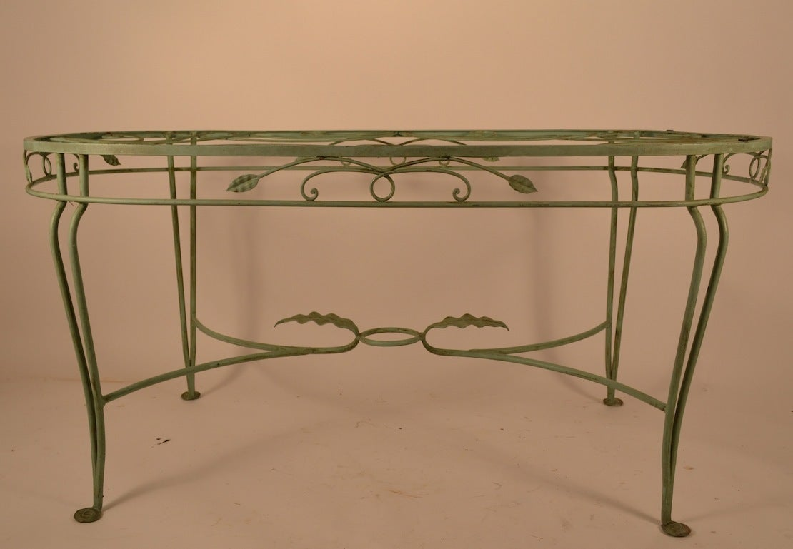 Salterini Wrought Iron Oval Dining Table At 1stdibs