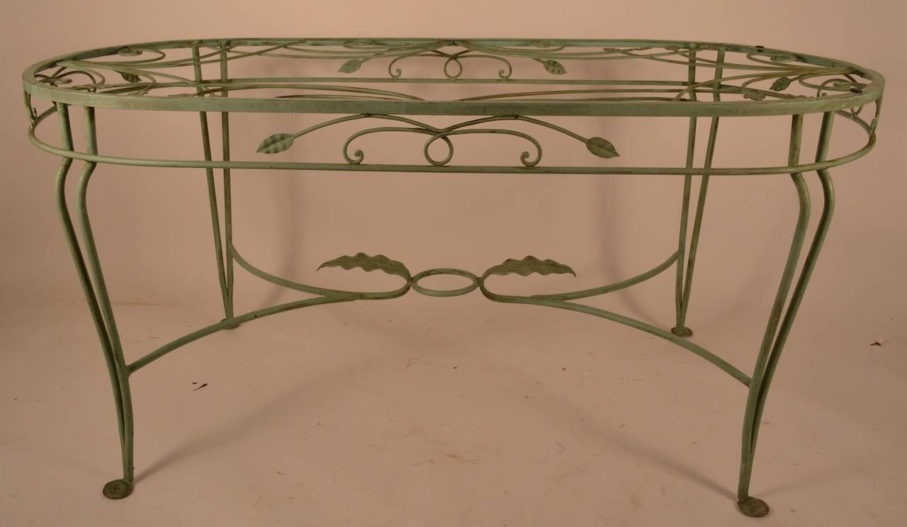 Salterini Wrought Iron Oval Dining Table At 1stdibs